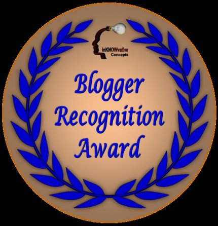 Inknowvative Concepts, Blogger Recognition Award, InKnowvative Concepts